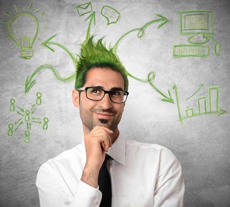 Concept of creative idea of a businessman Stock Photo - 21694741