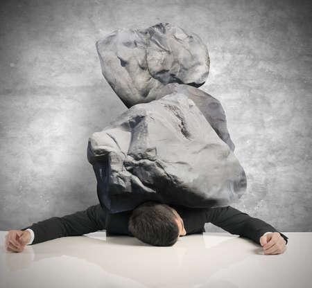 사업가의 스트레스의 개념 스톡 콘텐츠