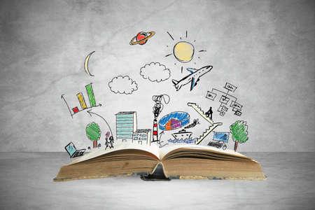 offen: Buchen Sie mit modernen Business-Skizze und Symbol Lizenzfreie Bilder