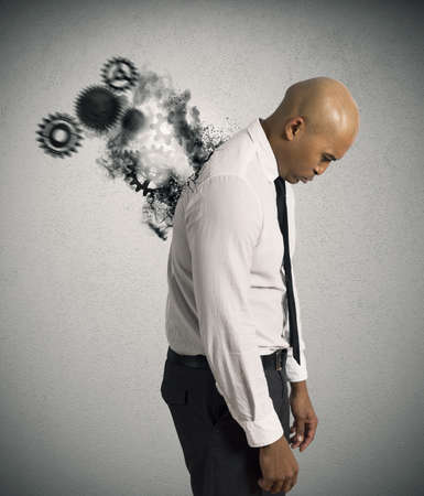 Concept of hard stress of a businessman Stock Photo - 21999163