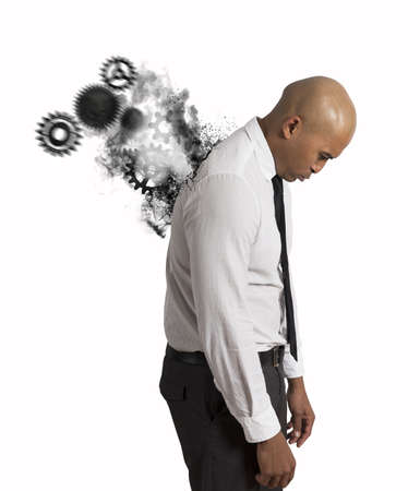 Concept of hard stress of a businessman Stock Photo - 21999174