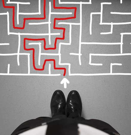 laberinto: Concepto de dificultad con el empresario y el laberinto