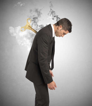 Stress concept of a businessman at work Stock Photo - 21999179