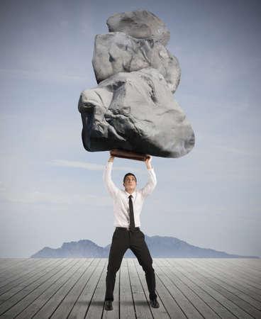하드 비즈니스 성공과 결정의 개념 스톡 콘텐츠