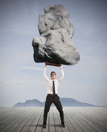Concept of success and determination in hard business Stock Photo