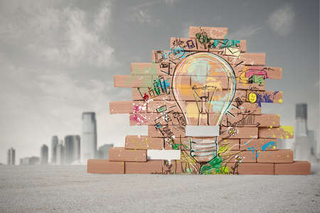 construct: Concept of sketch of creative business idea