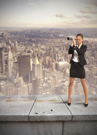 aspiration: Concept of career and ambition of a businesswoman Stock Photo