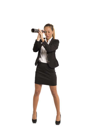 Concept of career and ambition of a businesswoman photo