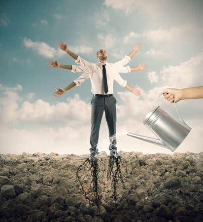 Concept de formation et de formation d'un homme d'affaires Banque d'images