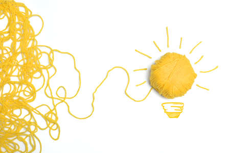 Concepto de idea y la innovación con la bola de lana Foto de archivo - 22397194