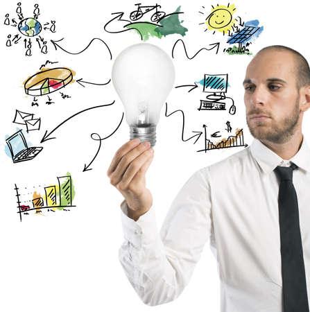 creative brain: Concept of new idea of a businessman