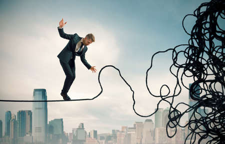 Concept de problème et la difficulté d'un homme d'affaires