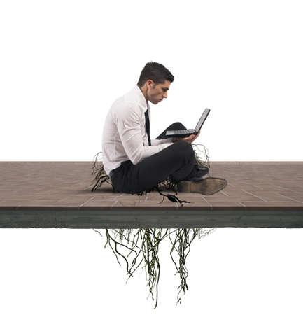dependent: Concept of internet addiction of a businessman