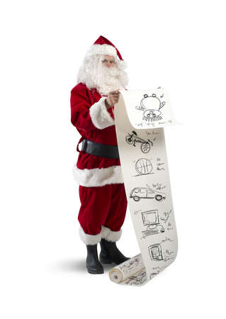 Concept of Santa Claus with gifts list photo