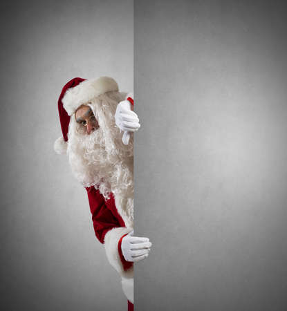 stupor: Santa Claus with blank space for your message