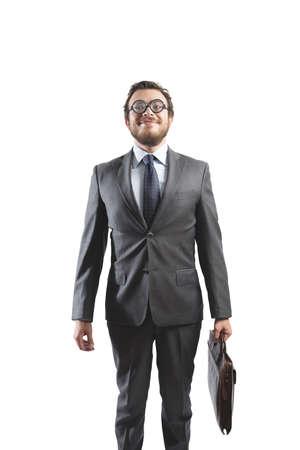 bizarre: Concept of bizarre businessman like a nerd