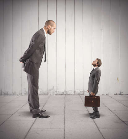 big and small: Concept of business competition with big and small businessmen