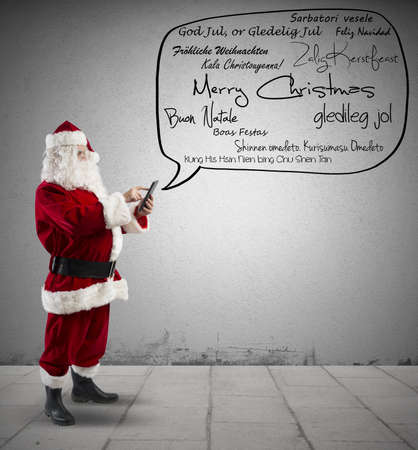 stupor: Santa Claus with Merry Christmas message in various language