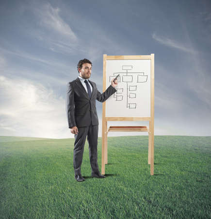 Man who does training on business strategy Stock Photo - 23121389