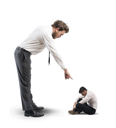 superiors: Concept of humiliation suffered by the boss Stock Photo