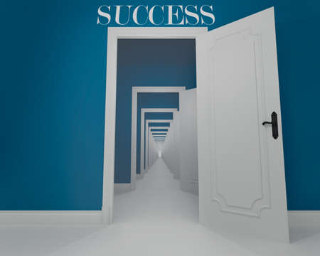 Concept of long way of the success Stock Photo