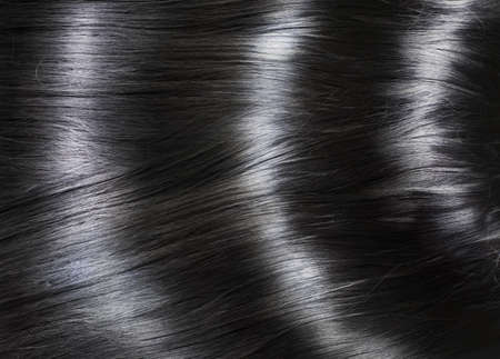 Fashion background with long shiny black hair