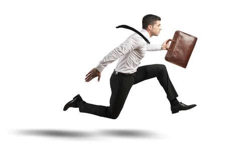 Begrip stress in het bedrijfsleven met stromend zakenman