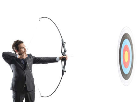 business: Concept of determination in business with bow and arrow