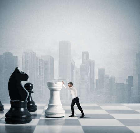 koncept: Begreppet strategi och taktik i näringslivet Stockfoto
