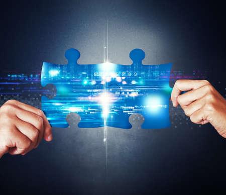equipos: Concepto de integraci�n del sistema con uni�n de rompecabezas