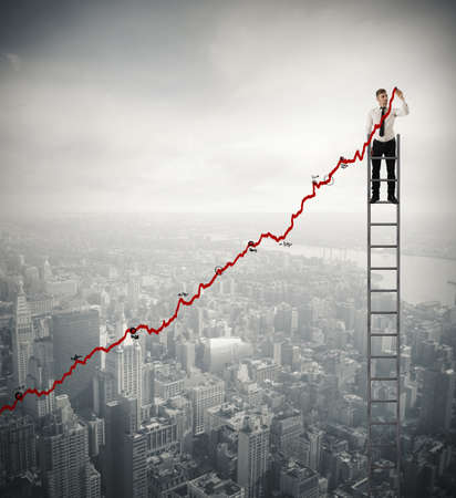 Concept of success and determination of a businessman Stock Photo