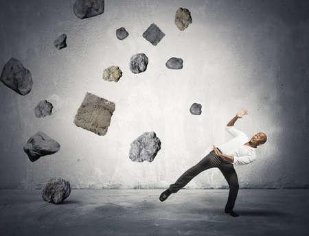リスクという概念やビジネスでの問題 写真素材