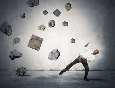 ponderous: Concept of risk and problem in the business Stock Photo
