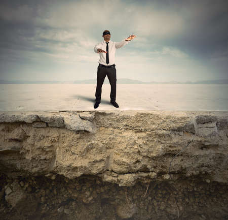 Concept of difficulty and problems in business photo