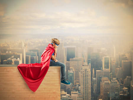 ヒーローの子供のファンタジーの概念