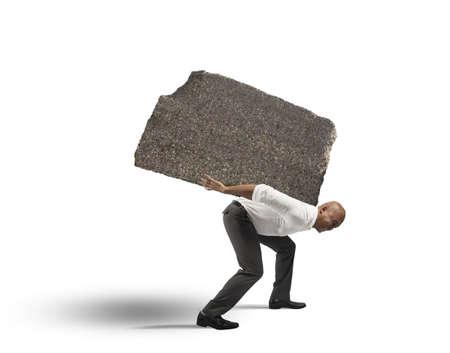 스트레스와 하드 경력 사업가의 개념 스톡 콘텐츠