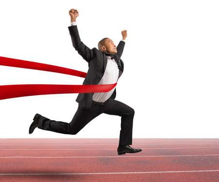Úspěch: Úspěch podnikatel v cílové linii