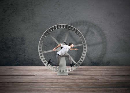 ビジネスマンを実行しているビジネス ループの概念 写真素材