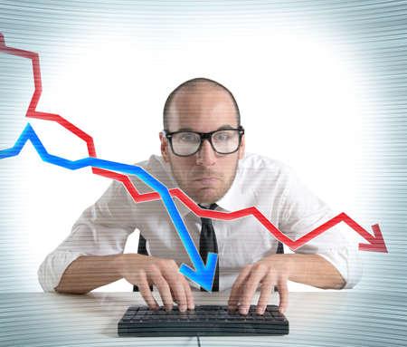 Concept van de crisis en het falen van de markt