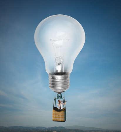 ビッグ アイデアと高く飛んで実業家
