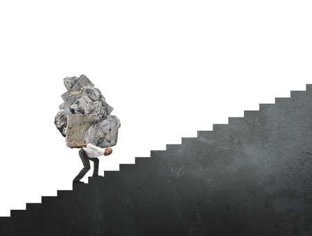 Konzept der schwierigen Karriere in der Wirtschaft Affäre Standard-Bild