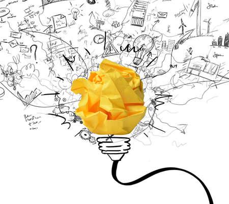 imaginacion: Concepto de la nueva idea de concepto y la innovaci�n Foto de archivo