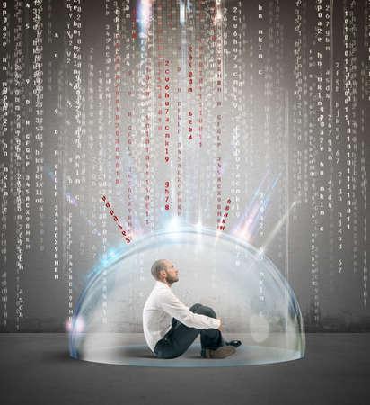 アンチ ウイルスの保護とファイアウォールの概念の概念 写真素材