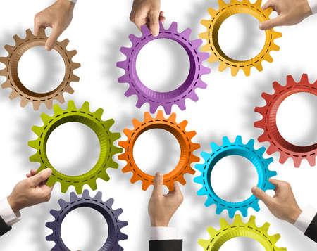 zusammenarbeit: Teamwork-und Integrationskonzept mit Getriebe