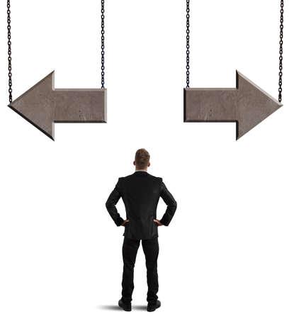 ビジネスマンの重要な選択肢の概念 写真素材