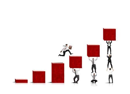 ビジネスマンを実行している企業の統計に役立つ