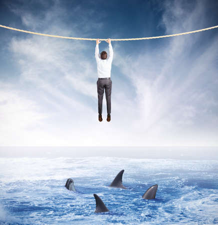 사업의 위기와 위험의 개념 스톡 콘텐츠