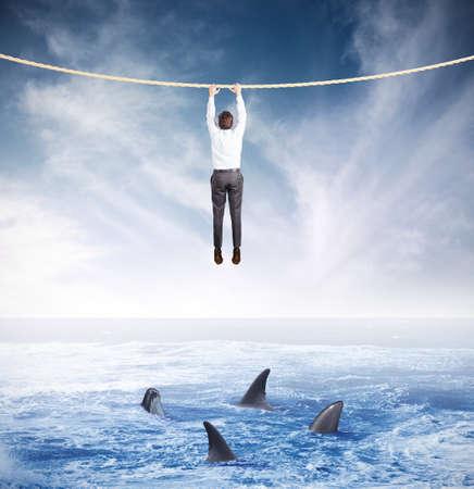 Concept of crisis and risk in business Foto de archivo