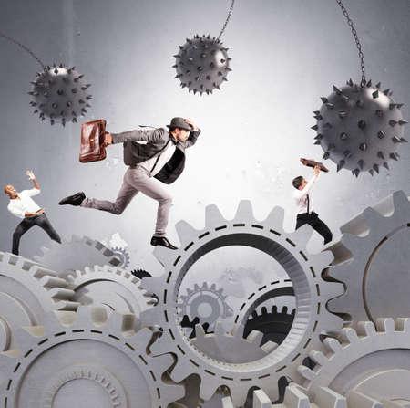 ビジネスマンの困難なキャリアの概念