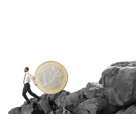 secure growth: Concept of Saving money due to crisis Stock Photo